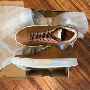 NWT Toms Lenox Dark Toffee Leather Sneaker